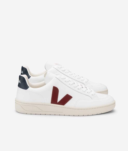Veja - W V12 Leather - White Marsala Nautico