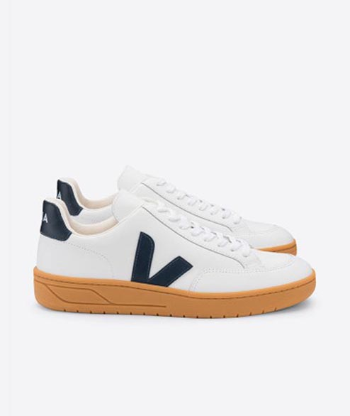 Veja - W V12 Leather - White Nautico Gum