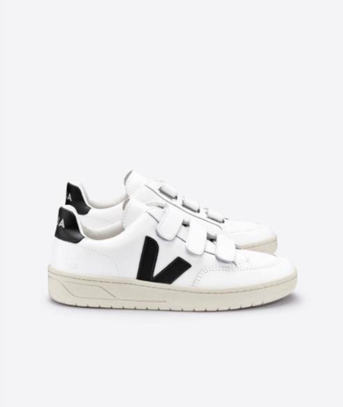Veja - W V Lock Leather - White Black