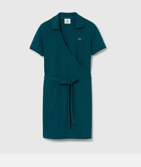 Lacoste Live - W Cross Polo Dress - Green