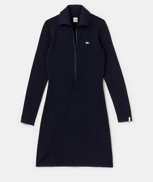 Lacoste Live - W Zip Stand Up Collar Dress -Navy