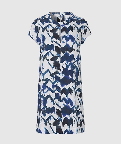 Libertine Libertine - W Open Dress - Blue White Navy